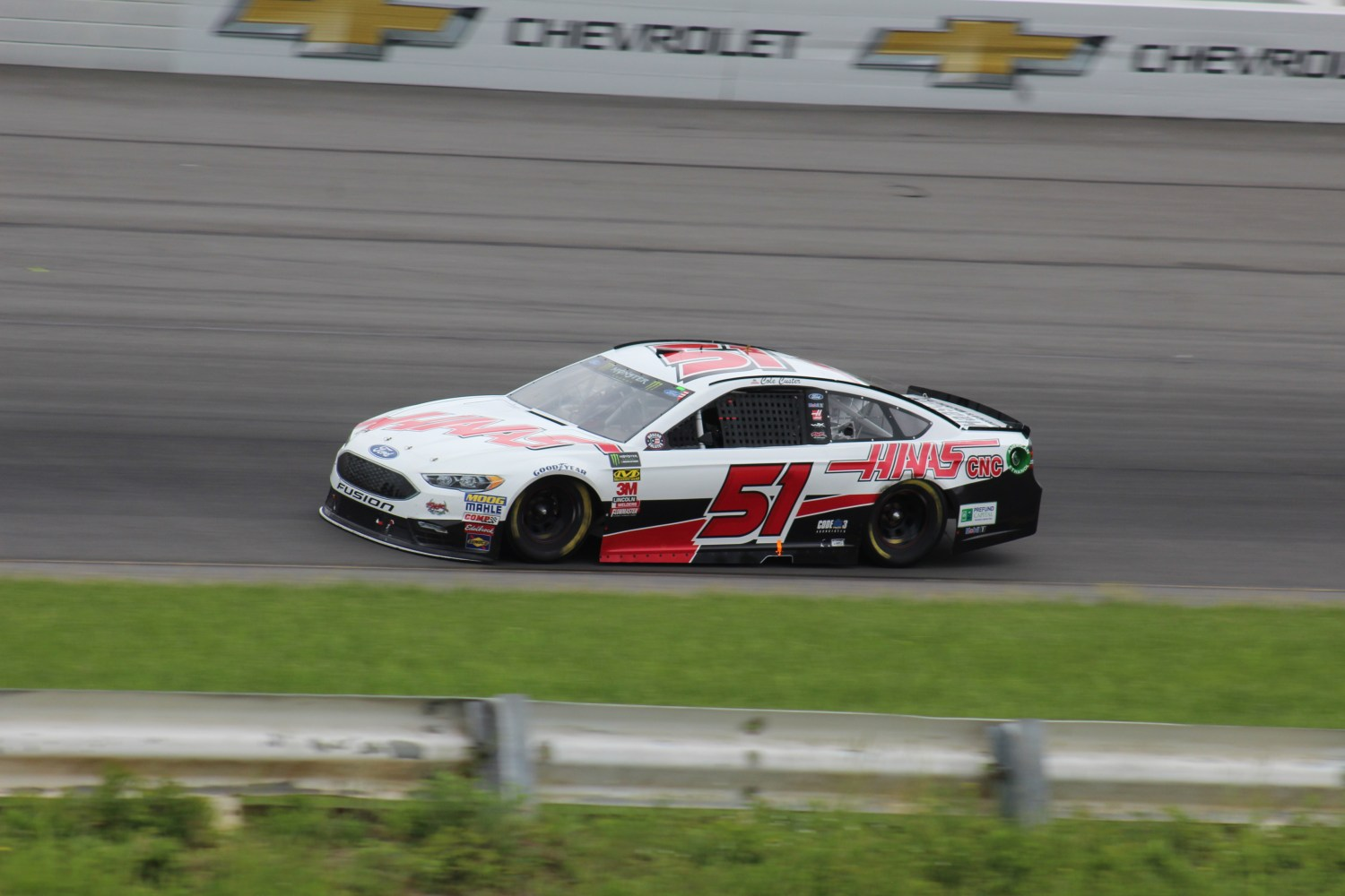 Cole Custer races during the 2018 Pocono 400. (Tyler Head | The Racing Experts)
