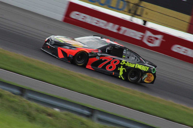 Martin Truex Jr. races at Pocono