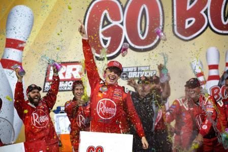 Christopher Bell celebrates at Richmond Raceway. Photo: Austin McFadden | The Racing Experts