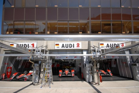Audi garages, Le Mans 24 Hours 2008