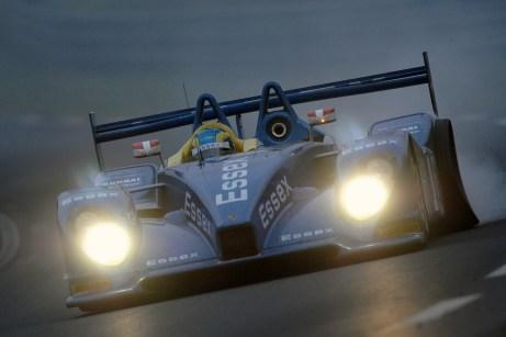 Essex Porsche RS Spyder, Puncture, Le Mans 24 Hours 2008