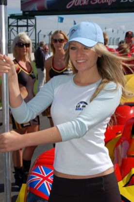 Team Bruichladdich grid girl, Donington 1000km 2006