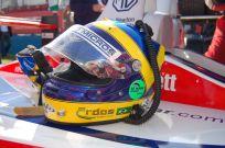 Tommy Erdos helmet, RML Lola MG, Donington 1000km 2006