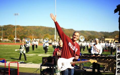 Gow rocks half time show with marching band