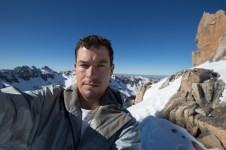 At the top of La Piedra Inclinada