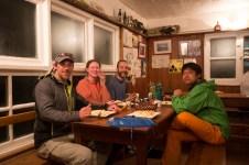Kevin, Barbara, Thomas and Tsungsu at the dining table.