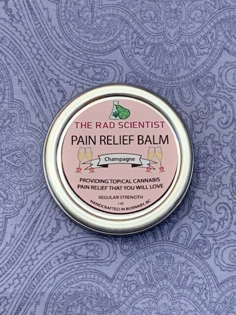 Champagne Pain Relief Balm in regular strength