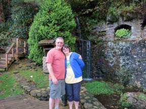 Here's Nana and Papa by the waterfall. I think they had a lot of fun!