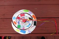 Wind catcher (AKA Snake) - Connor did all the coloring, stickers, and picked out the ribbon. Check it out in action: https://theraemanfamilygarden.wordpress.com/2016/06/13/springtime-fun-in-march/