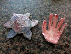 Turtle and Handprint from Morning Mud.