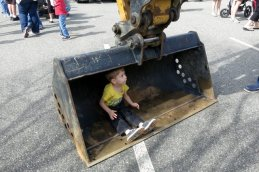 Just sittin' in an excavator scoop.