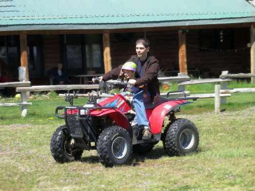 Mommy and Daddy also took me on several ATV rides.
