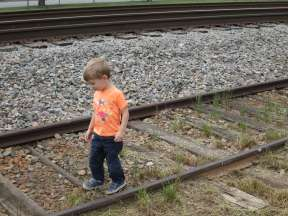 No trip to the fairgrounds is complete without a walk on the old railroad tracks!