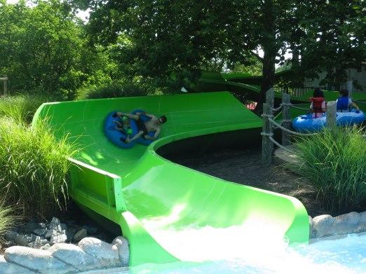 I really loved tubing down the slides!