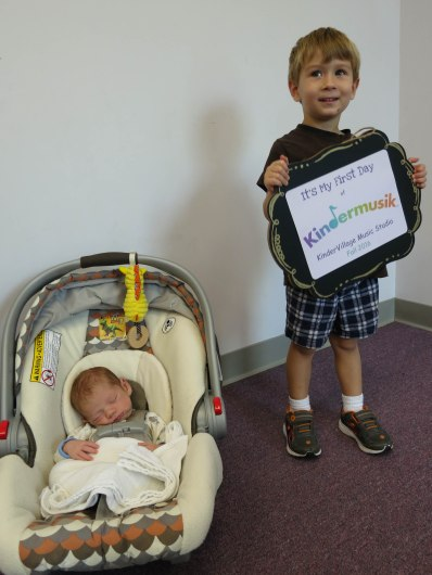 Mine & Kellan's first day of Kindermusik classes together!