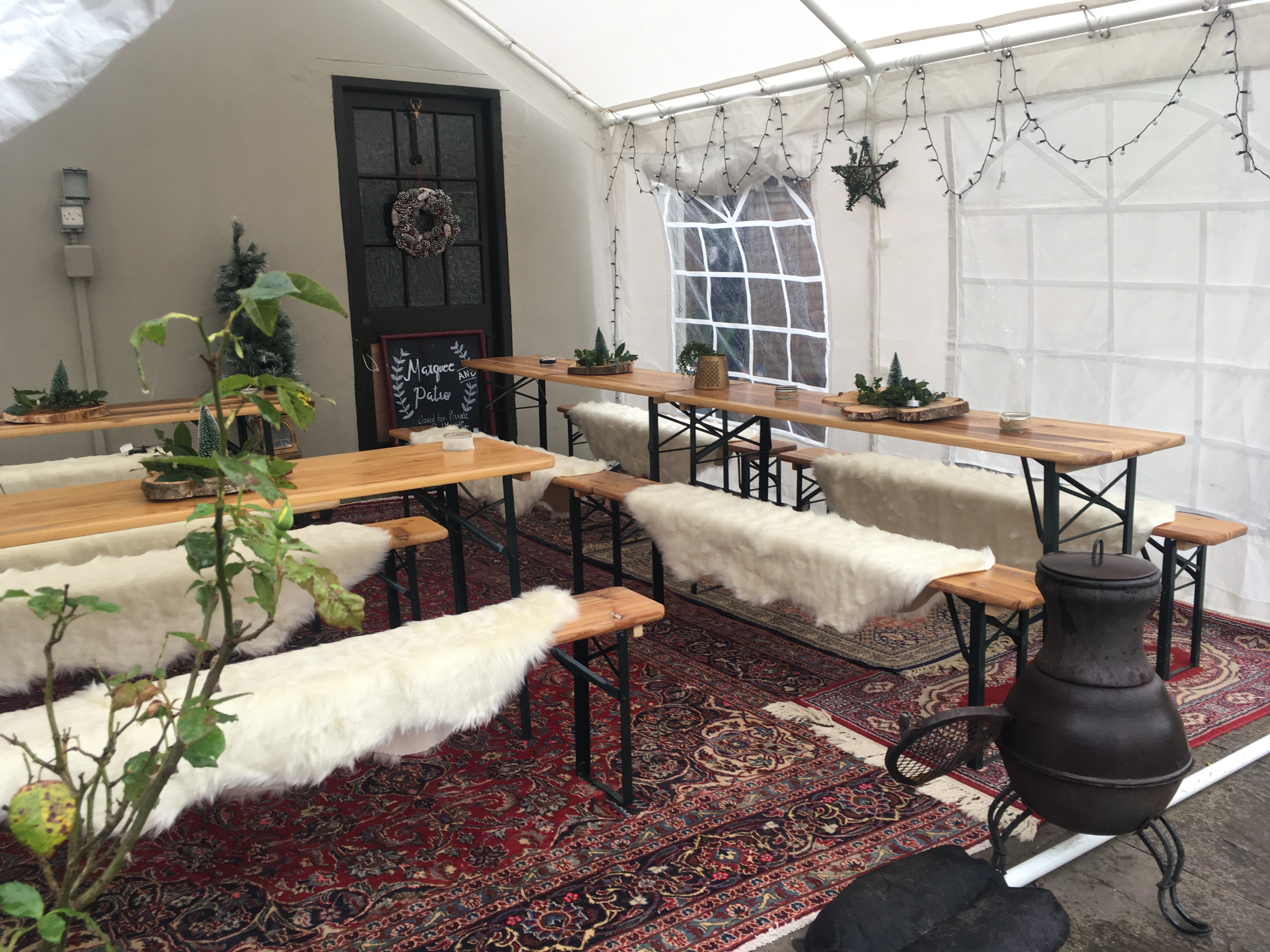Hire our Christmas Grotto! Ringwood Railway- Beer Tent