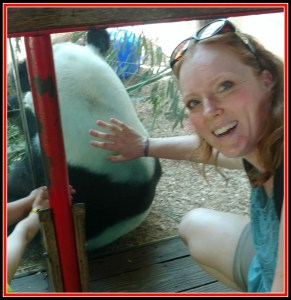 tRR Amanda touching panda