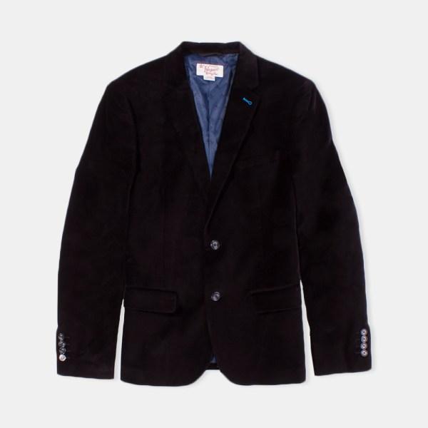 Original Penguin True Black Velour Blazer Rainy Days