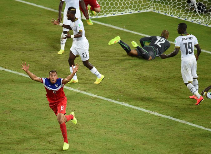 John Brooks wasn't nearly the most excited person when the ball hit the back of the net.