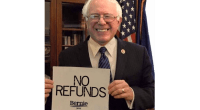 Bernie Sanders refunds cover