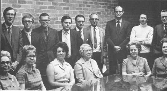Science Faculty 1970-1971 (Back row, second from left)