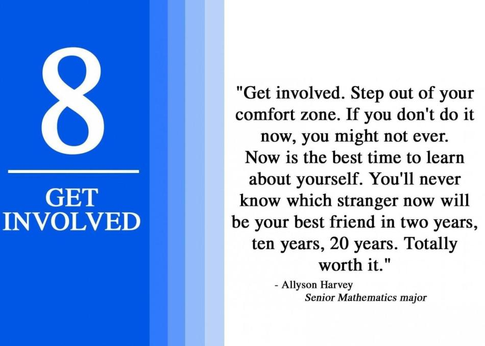 8 Get involved