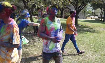 Wesleyan students celebrated the Holi Festival of Colors