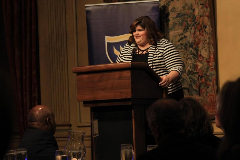 Author Julie Murphy '20 won the Young Alumni Achievement Award at Alumni Medal Dinner on Friday at the Fort Worth Club. Photo by Shaydi Paramore