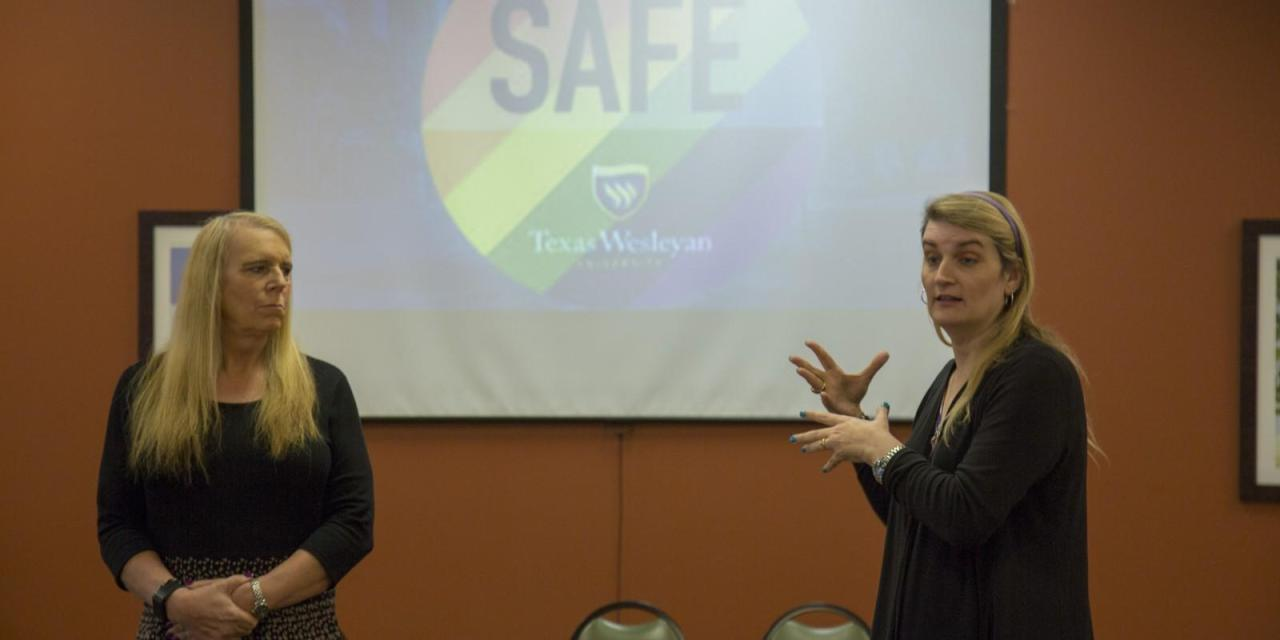 "LGBTQ activists discuss creating ""safe zones"""