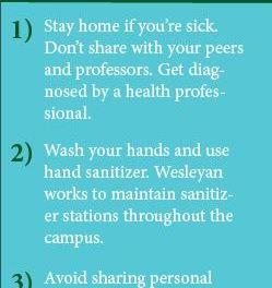 Wesleyan works to prevent flu on campus