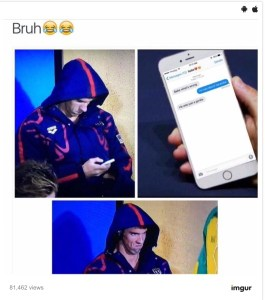 Memes collide in this humorous depiction of Phelps