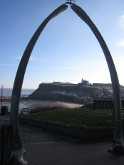 The whalebone arch on the West Cliff in Whitby