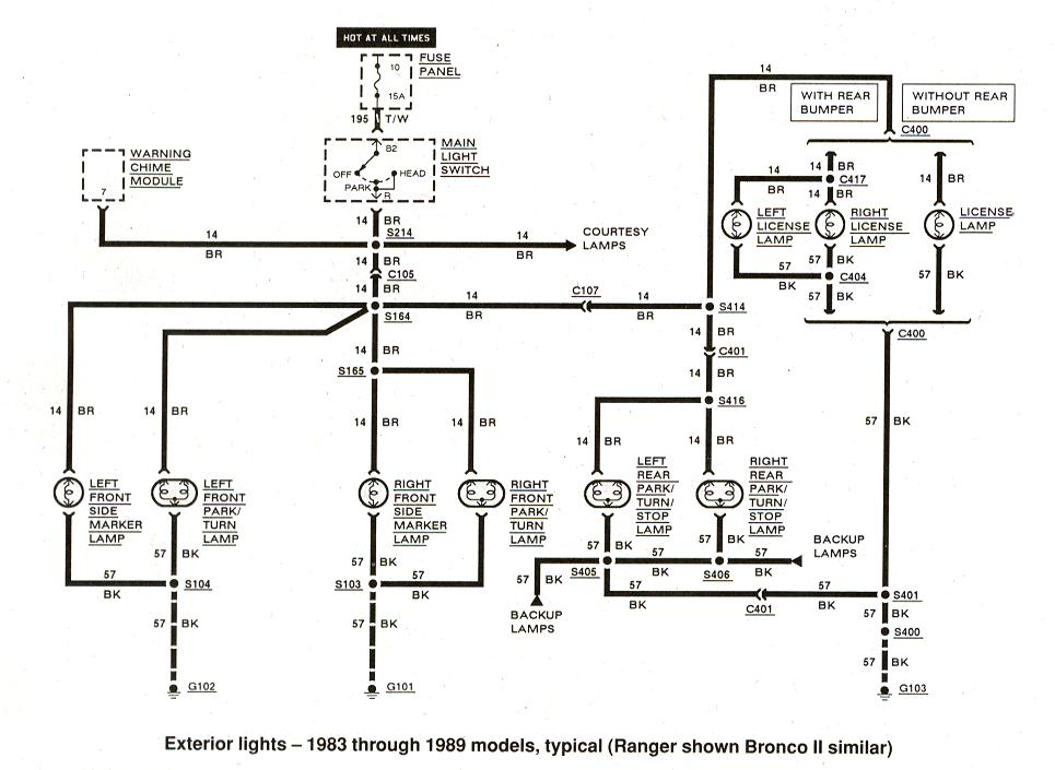 taillight wiring diagram 1988 ford bronco