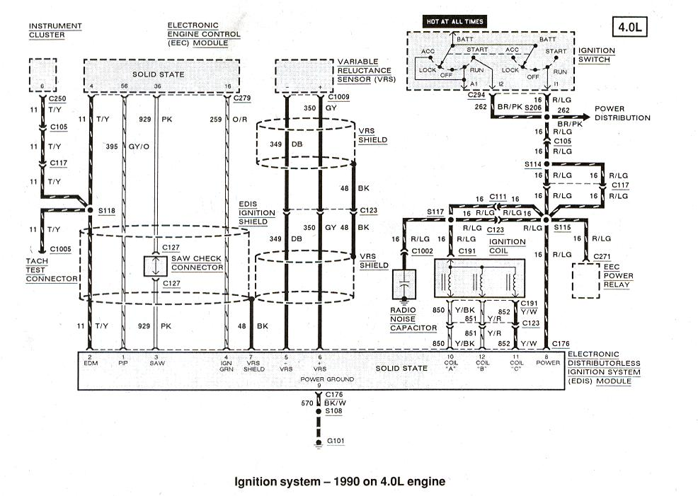 90 ford ranger ignition coil wiring diagram wiring