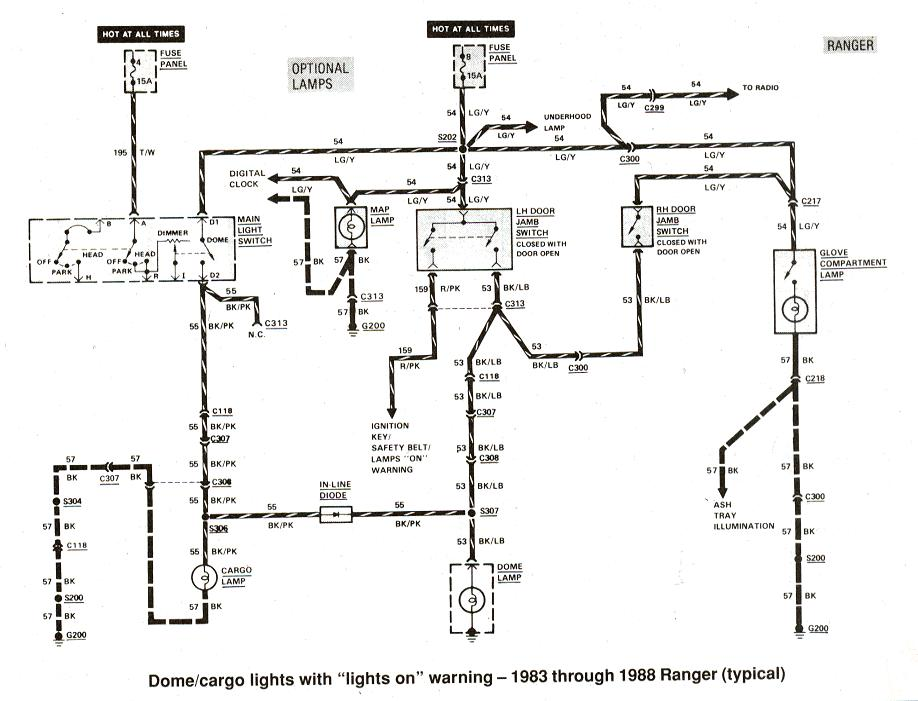 2006 ford econoline radio wiring diagram 220 to ranger & bronco ii electrical diagrams at the station