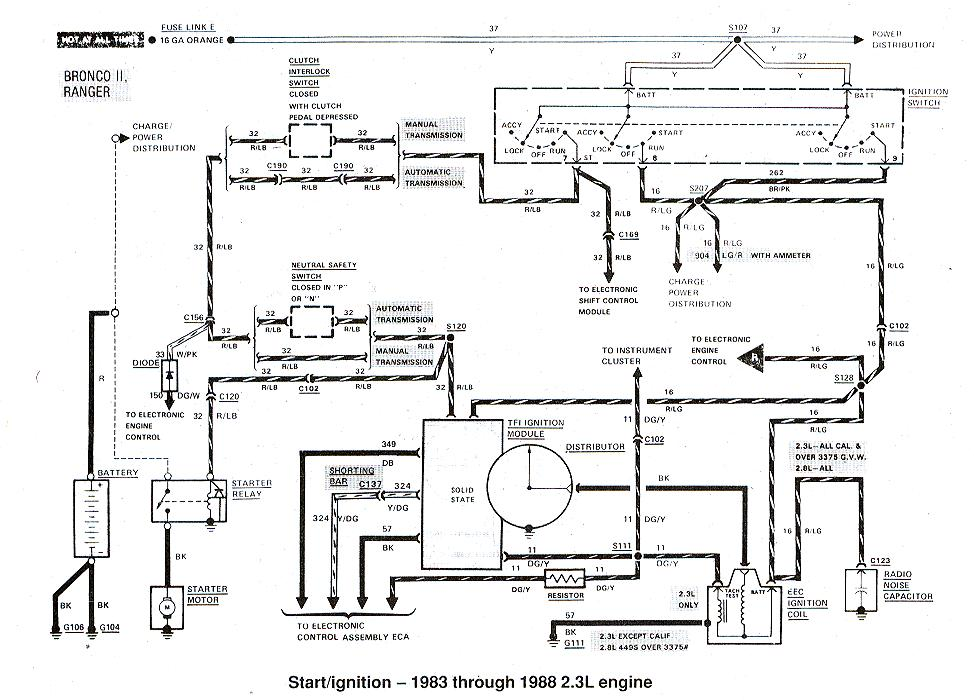2001 ford ranger alternator wiring diagram