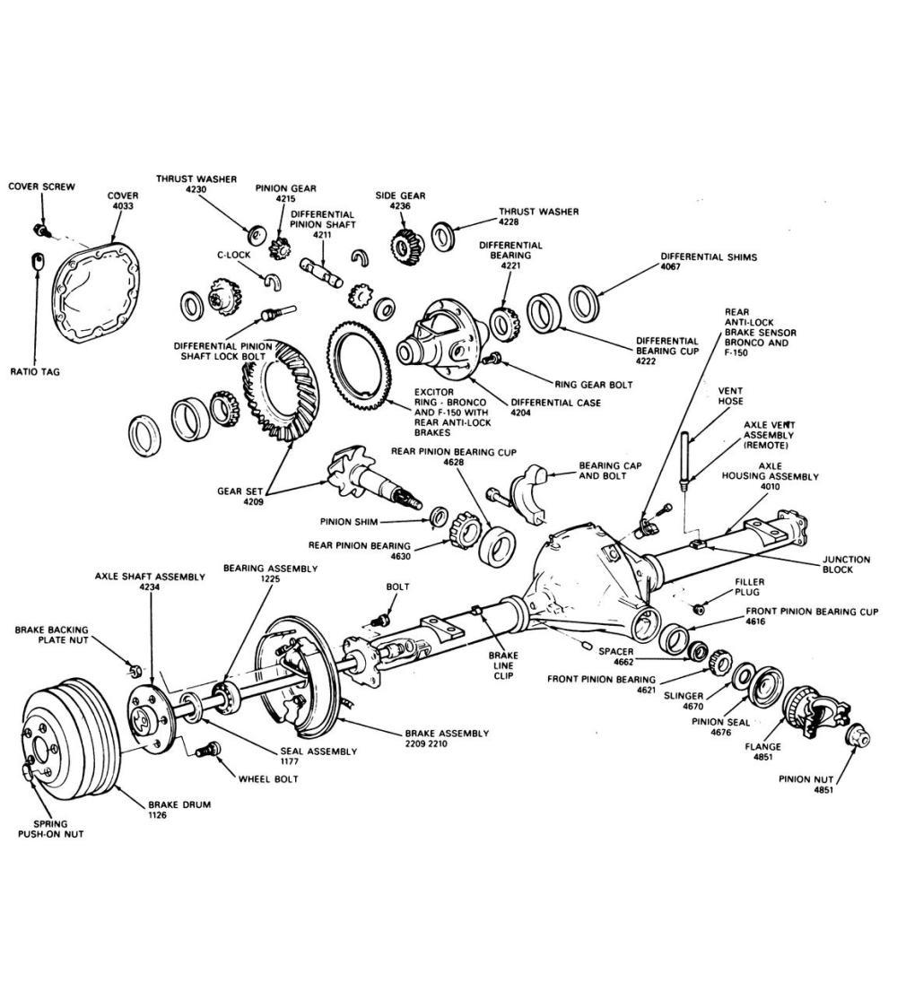 medium resolution of rear axle