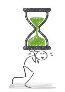 Zeitmanagement -Druck