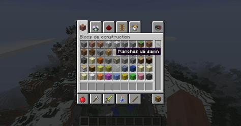 Tous les blocs de constructions sont disponibles.