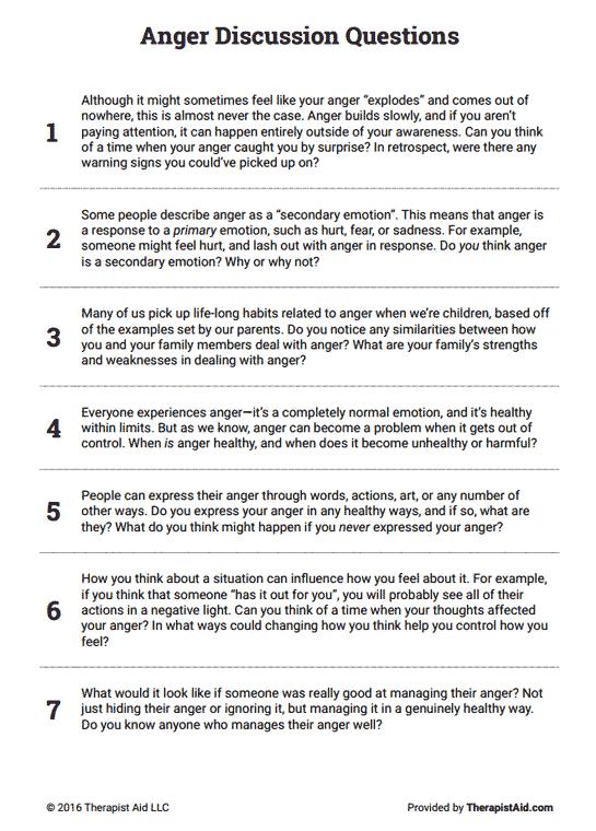 All Worksheets  Anger Management Worksheets For Teens