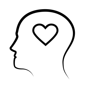 emotional intelligence graphic of heart inside head outline