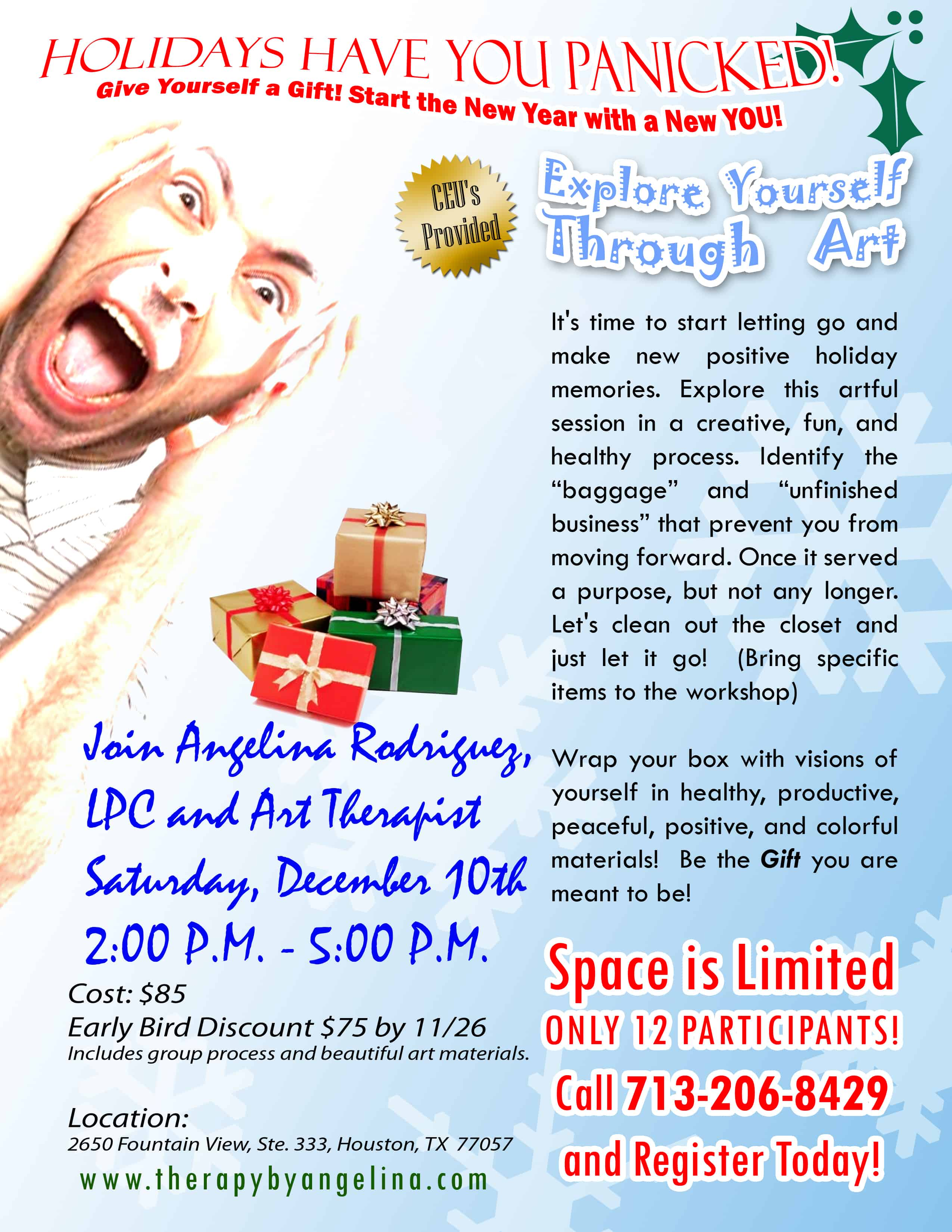 Holiday Panic! — Psychotherapy By Angelina