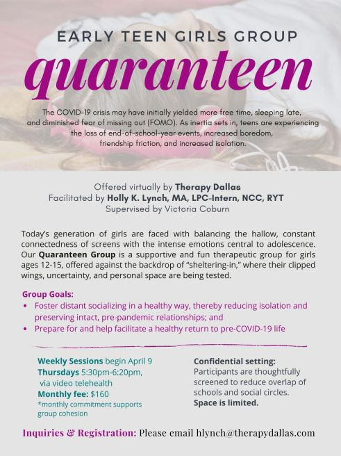 TherapyDallas_QuaranteenGroup_Flyer