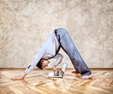Funny business yoga