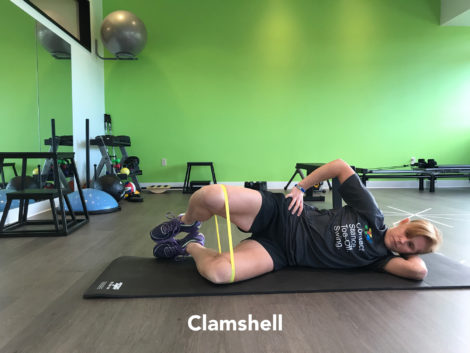 clamshell exercise resistance band