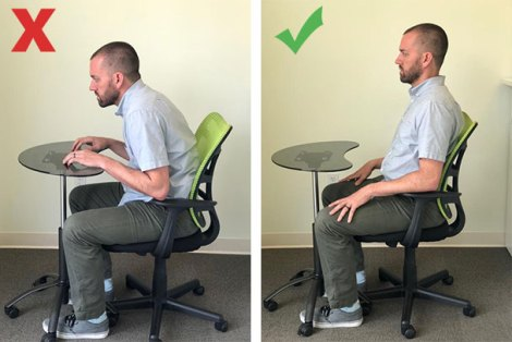 sitting posture desk school ergonomics physical therapy