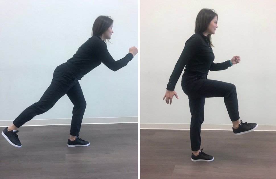Running Man Exercise for Runners Physical Therapy Portland