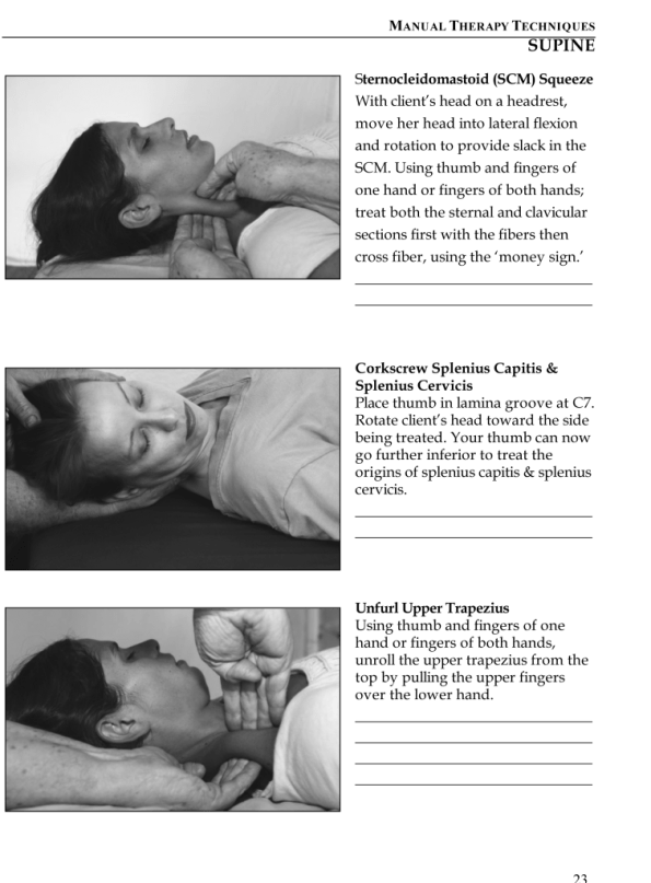 A sample page from the manual for MMT I: Cervical Spine Pain and Dysfunction