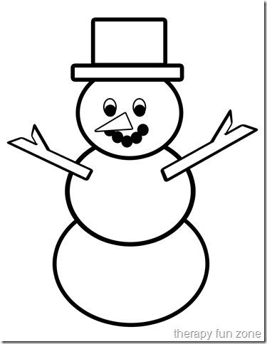 Scissor Cutting: Snow Man Template — Therapy Fun Zone