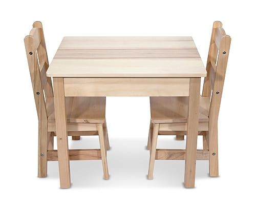 Wooden Table & Chairs - 3 Piece Set